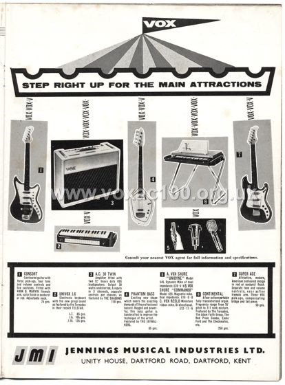Beat Monthly (later Beat Instrumental) magazine, 1963, volume 1, Vox advert