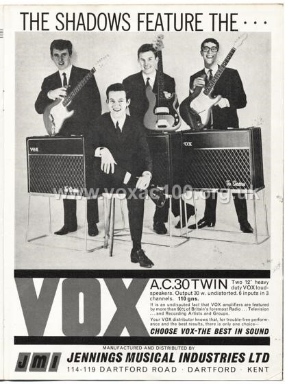 Beat Monthly (later Beat Instrumental) magazine, 1963, volume 3, Vox advert