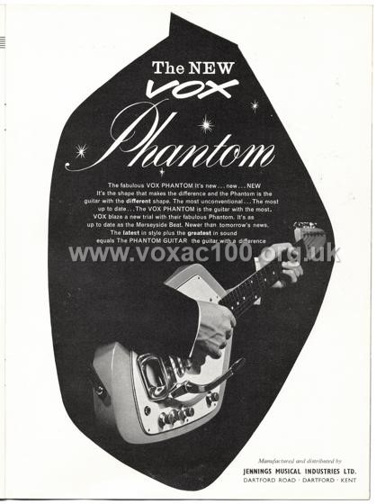 Beat Monthly (later Beat Instrumental) magazine, 1963, volume 6, Vox advert