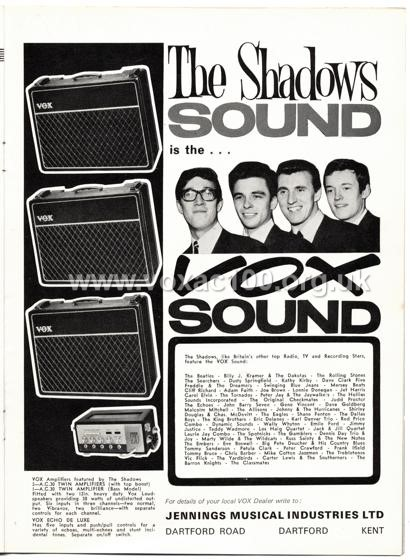 Beat Monthly (later Beat Instrumental) magazine, 1964, volume 13, Vox advert