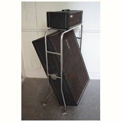 A closed back Vox AC100 speaker cabinet from 1966