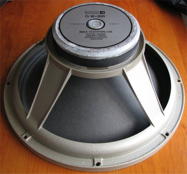 celestion 1 x 18inch driver