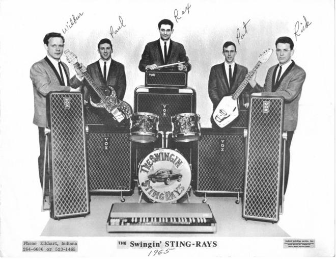 The Swingin Sting Rays with Vox gear