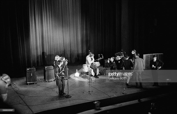 The Stones at the Olympia Theatre, Paris, October 1964