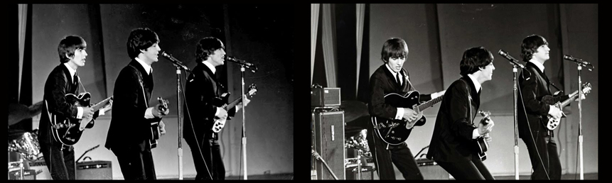 The Beatles with Vox AC80/100s, 1964