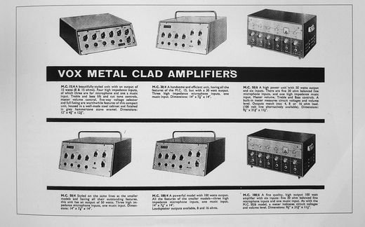 Vox Public Address amplifiers, illustrated catalogue from 1964 / 1965