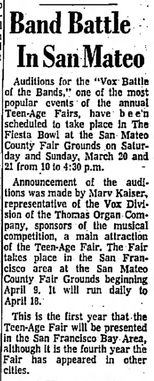 San Mateo Times, 19th March, 1965