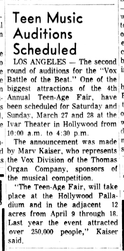 Santa Ana Register, 12th March, 1965