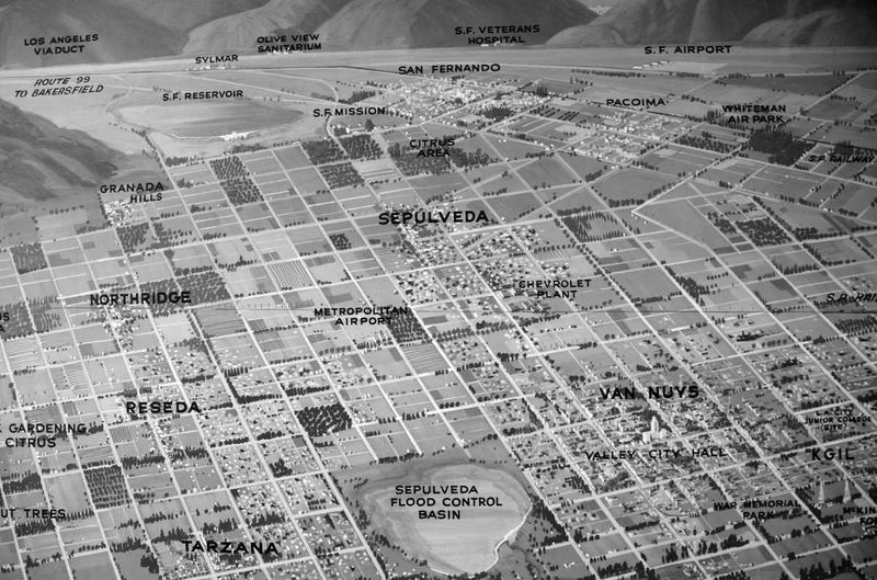 Aerial view of north Los Angeles