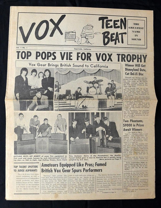 Vox Teen Beat magazine, April 1965