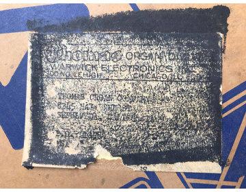 Thomas Organ Berkeley amplifier, original shipping box
