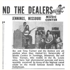 Ike and Tiny Turner advertising the Vox AC100