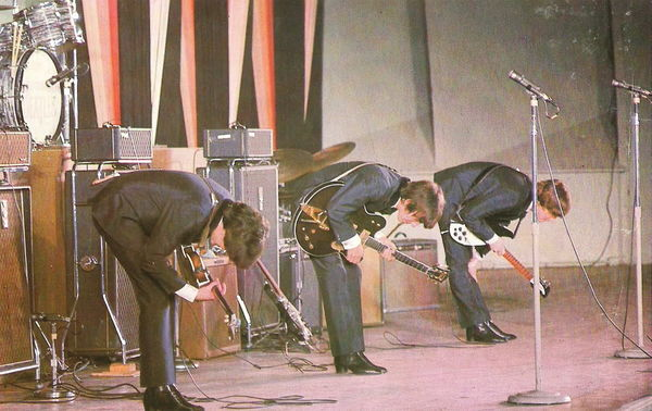 The Beatles at the Hollywood Bowl in colour