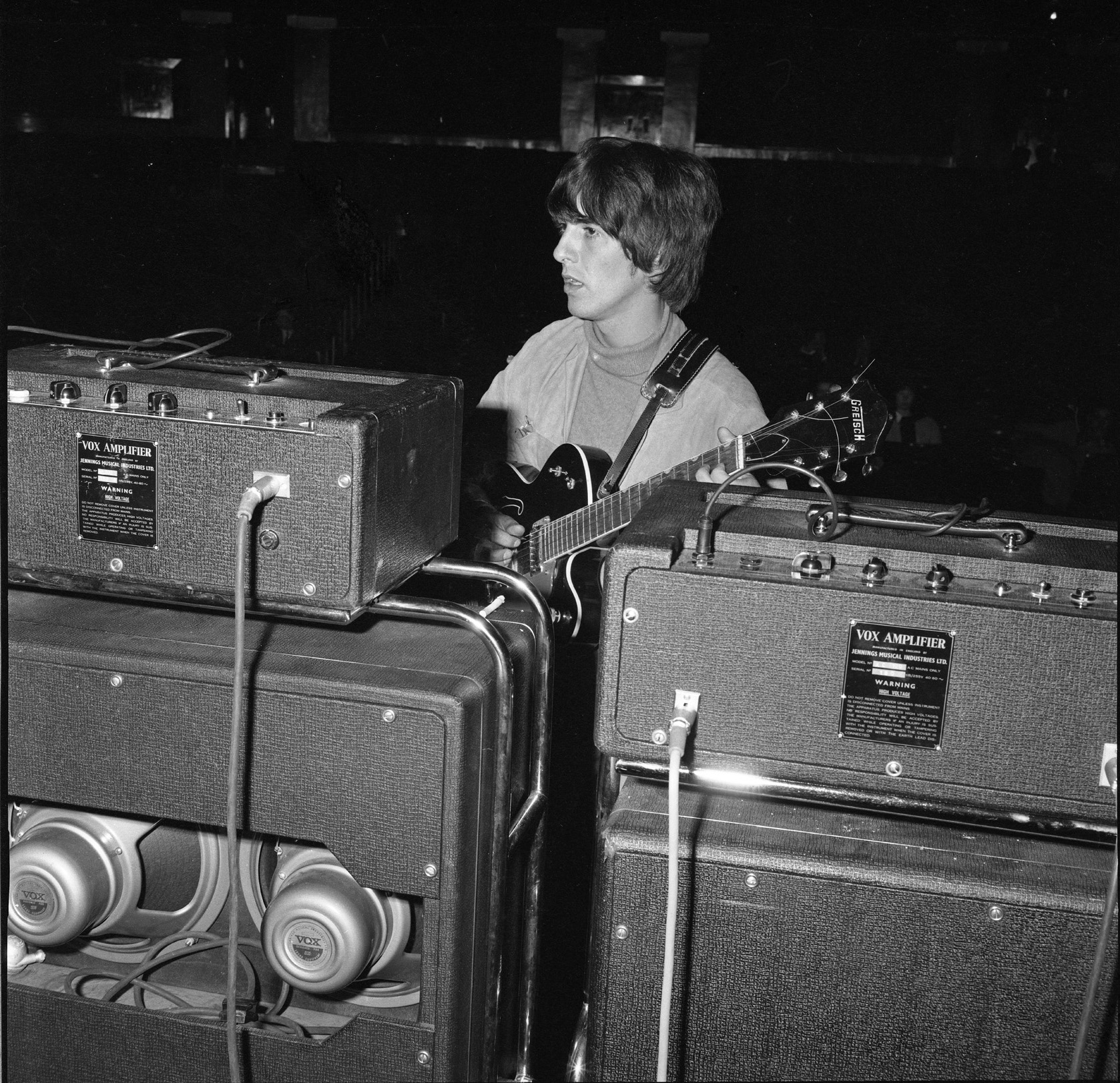 rehearsals for the christmas show, finsbury park astoria, december 1964   picture courtesy the beatles book photo archive