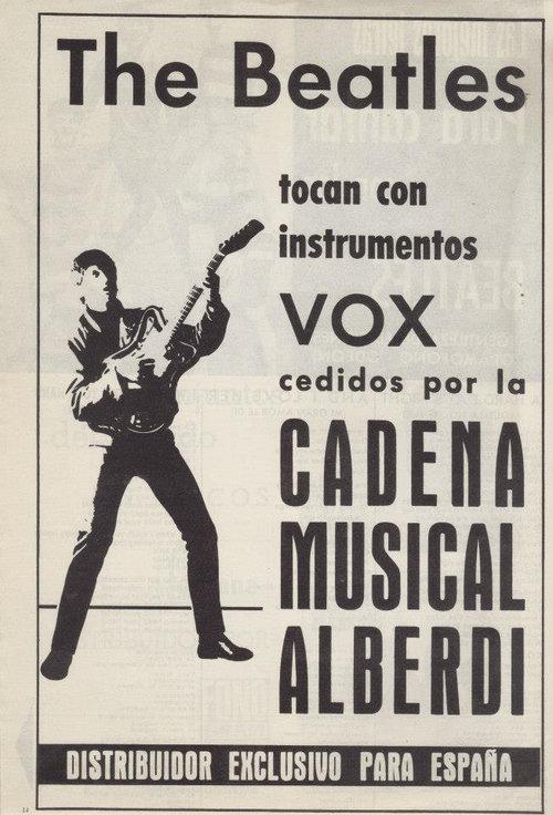Cadena Musical Alberdi did NOT provide AC100s for the Beatles, Barcelona, 3rd July, 1965, Plaza de Toros Monumental