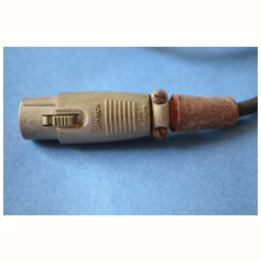 Original Vox mains cable from 1965 with Cannon LNE-11C connector