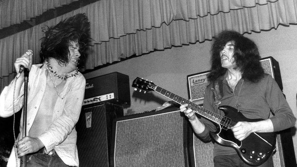 Black Sabbath on stage in 1969 with Vox 2x15 cab