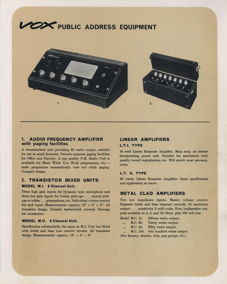 Vox Catalogue (Catalog), February 1964