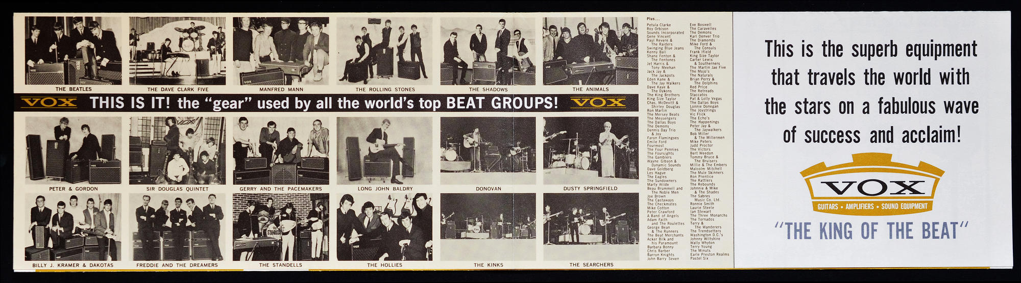 King of the Beat, Thomas Organ Vox catalog from late summer 1965