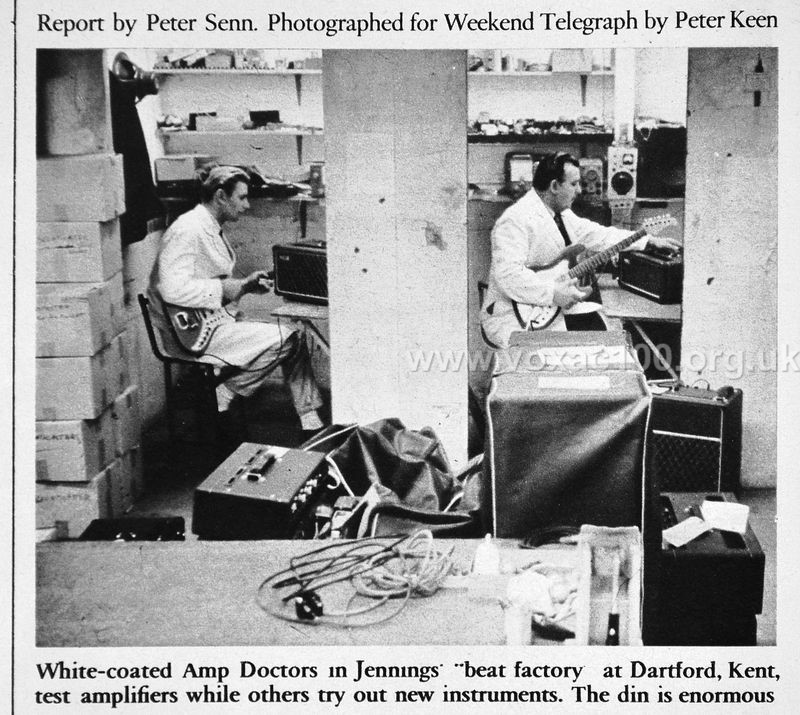 Jennings, Dartford Road factory, Beat Instrumental magazine, September 1965