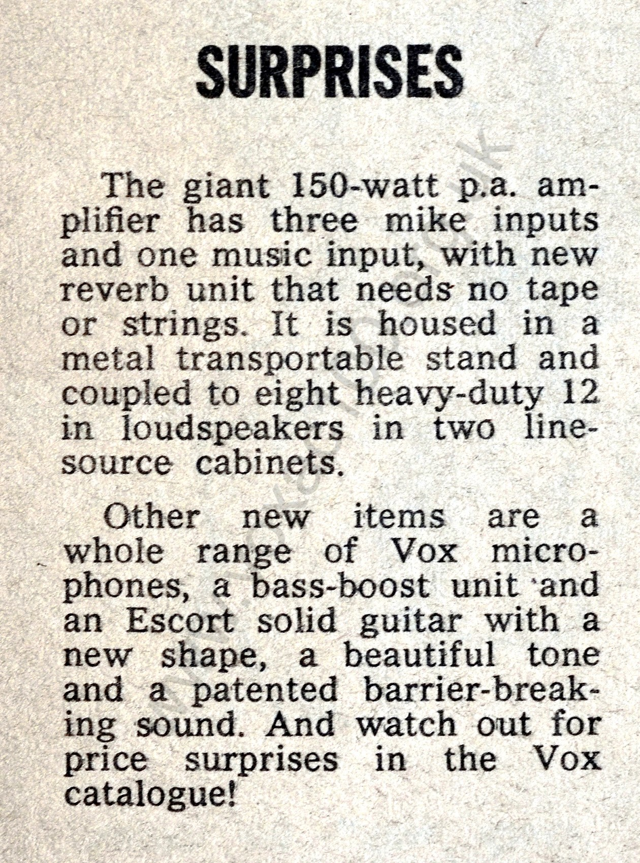 Melody Maker magazine, 21st August 1965, review of the Russell Hotel Trade Show
