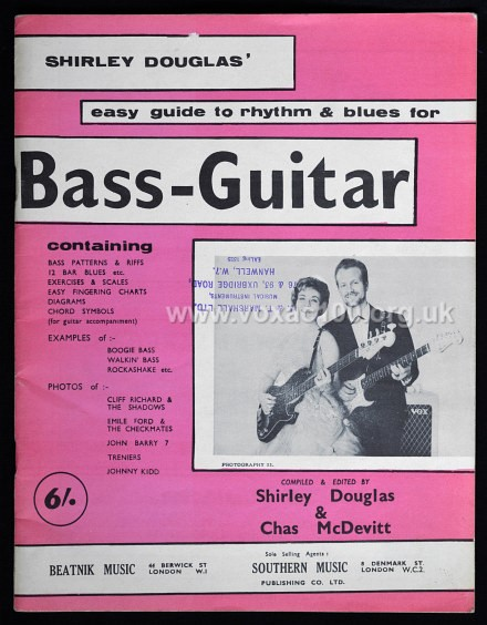 Shirley Douglas, Easy Guide to Rhythm and Blues for Bass Guitar, page