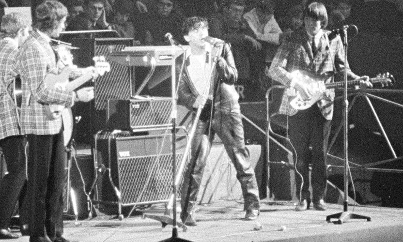 Gene Vincent and the Londoners with Vox loan equipment, November 1964