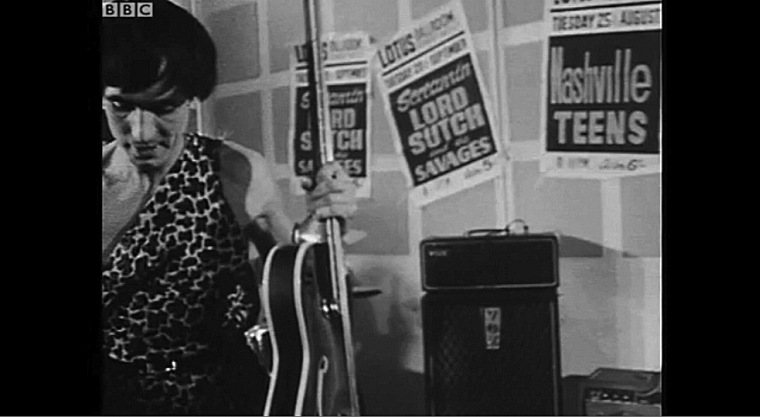 Screaming Lord Sutch and the Savages with an early Vox AC80/100
