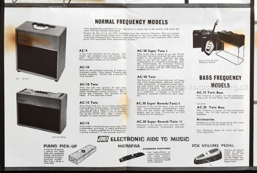 Early Jennings Musical Industries, Catalogue and Pricelist, 1961