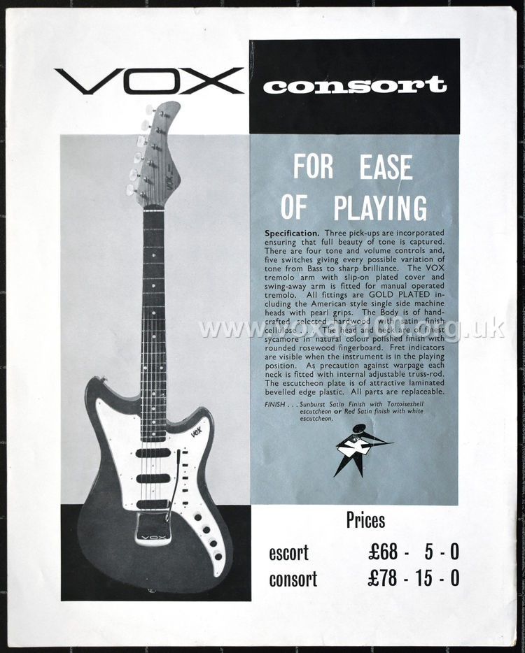 Early Jennings Musical Industries, Flyer for the Vox Consort
