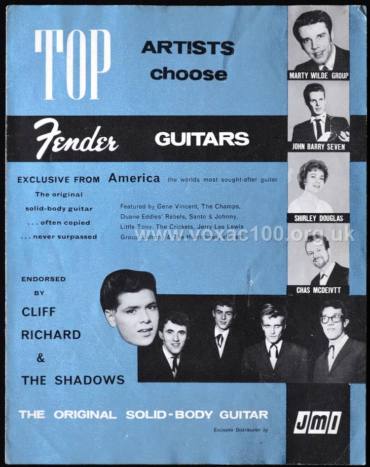 Jennings Musical Industries Fender brochure, 1961-1962, details