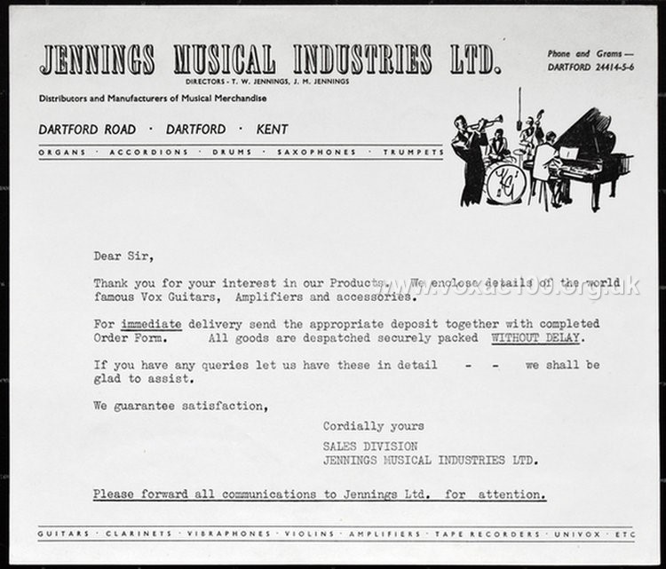 Early Jennings Musical Industries