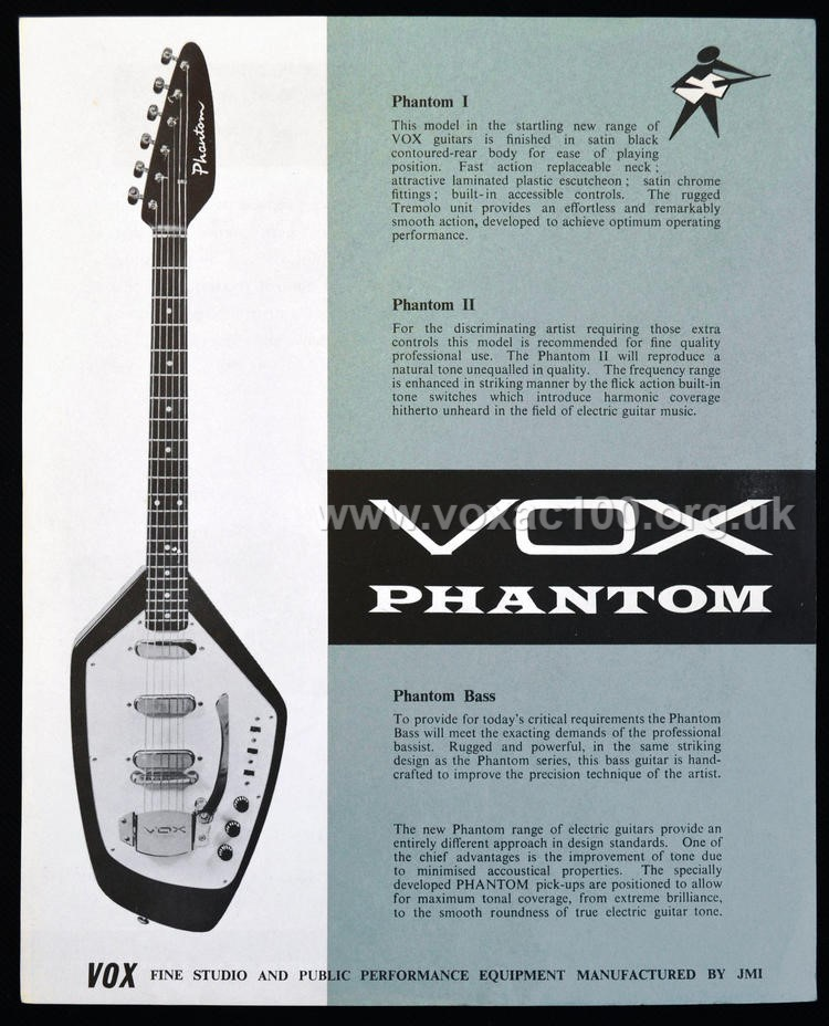 Early Jennings Musical Industries, Flyer for the Vox Phantom guitar