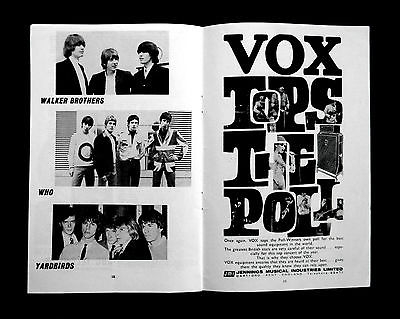 Vox advert in the programme for the NME Poll Winners Concert, May 1966