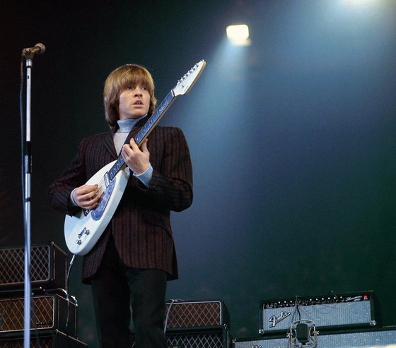 Brian Jones on stage with early Vox AC80/100s, NME Poll Winners Concert, April 1965