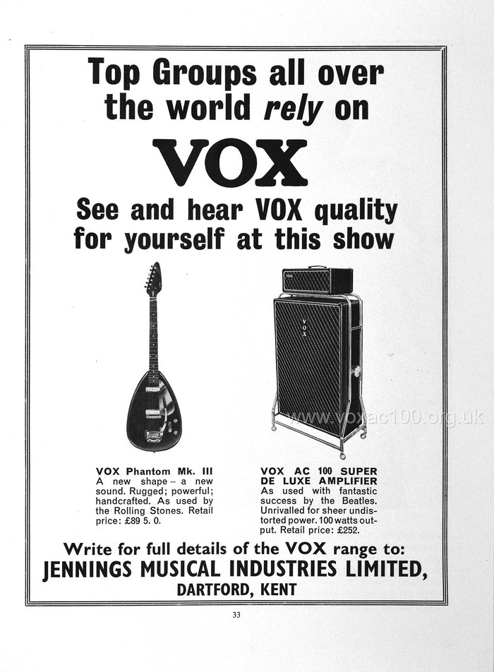 Daily Express Record Star Show programme, March 1965