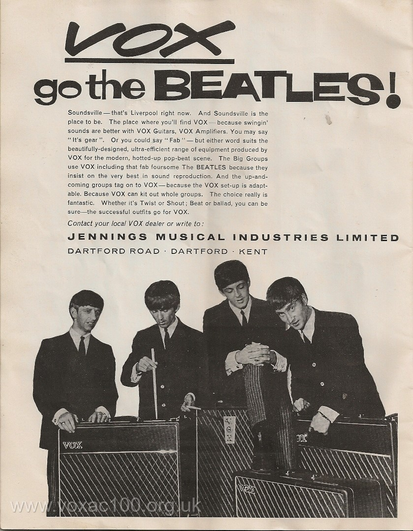 Beatles Christmas show programme, 1963, Vox advert