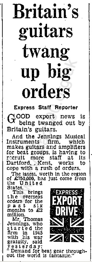 Daily Express, 9th February, 1965