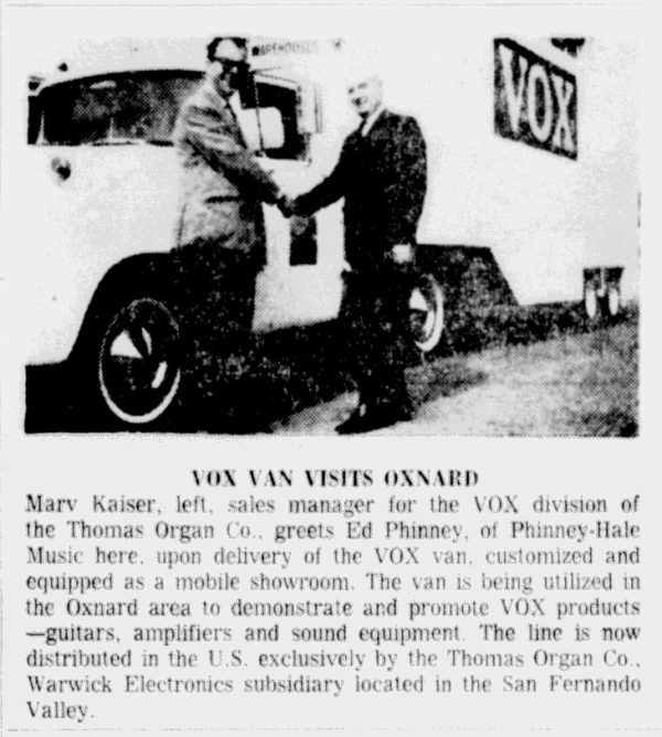 Oxnard Press Courier, 2nd March, 1965