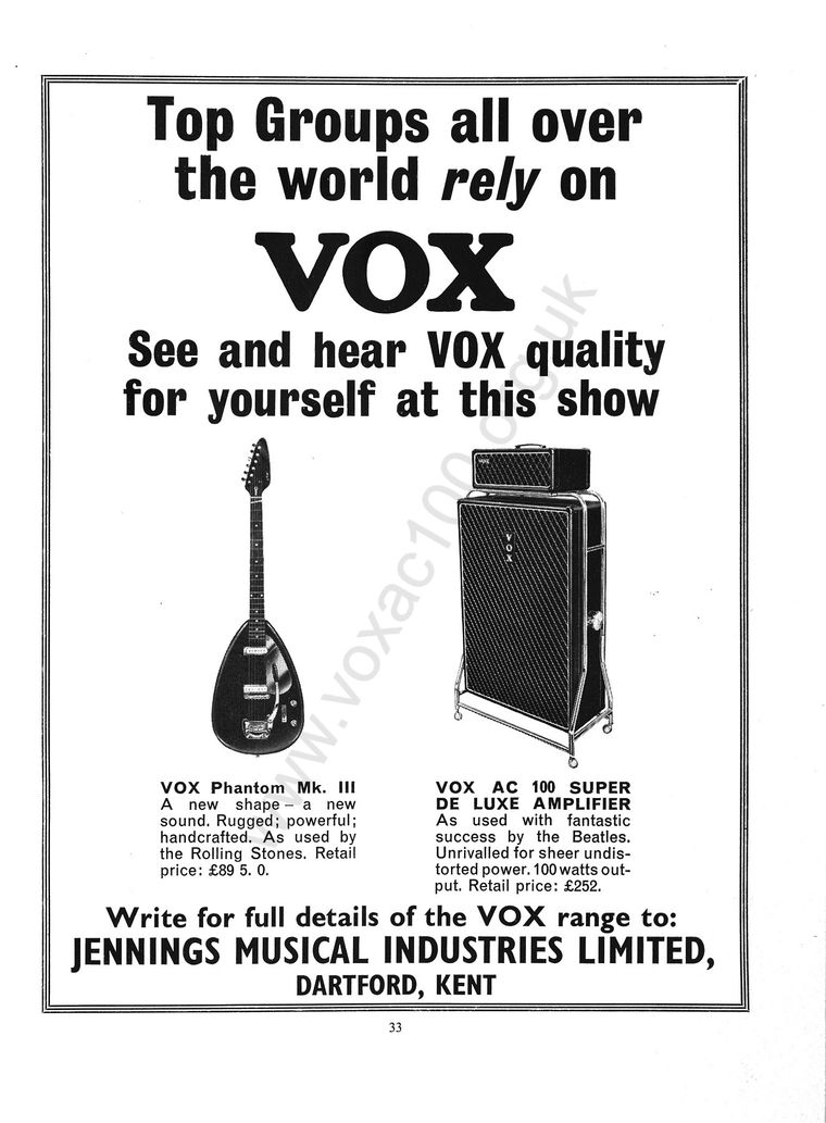 Daily Express, Record Star Show, 1965