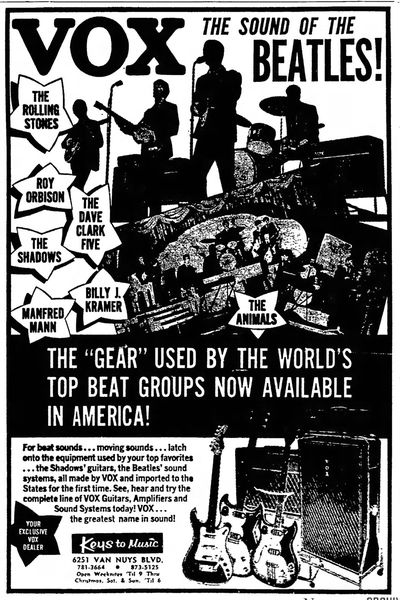 Valley News (Van Nuys), Vox advert, 13th December 1964