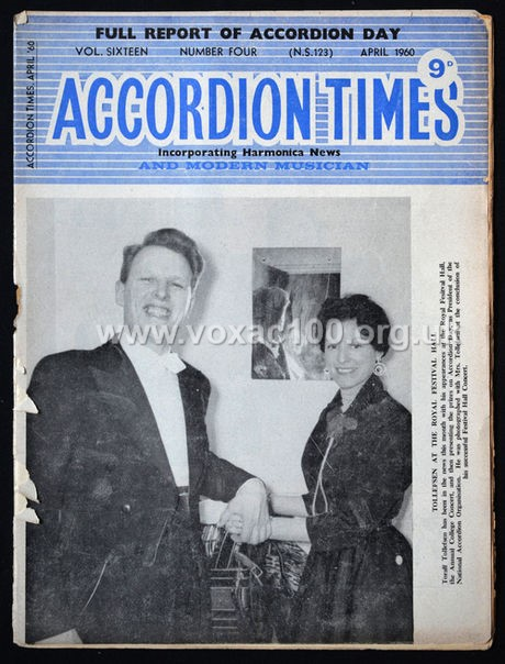 Accordion Times, April 1960, cover