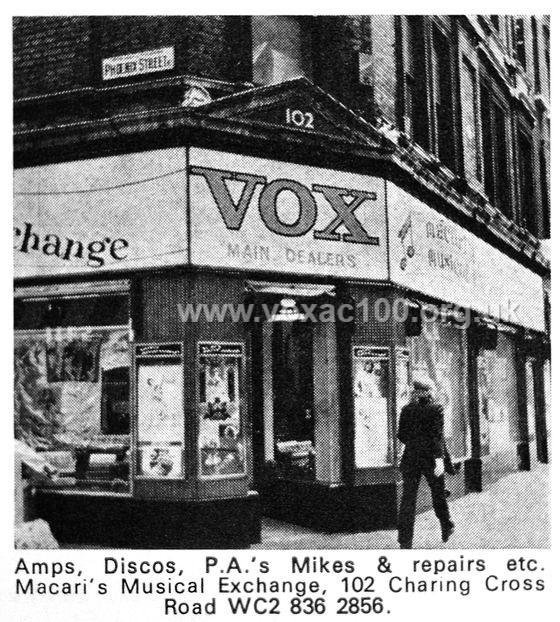 Beat Instrumental magazine, June 1973, Macaris, Charing Cross Road