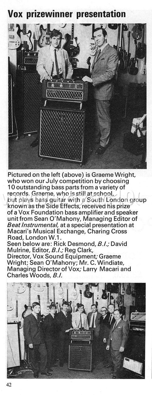 Beat Instrumental magazine, October 1970, Macaris, Charing Cross Road