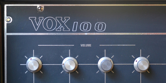 A Vox 100 watt public address amplifier, all valve, 1966