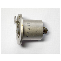 A latching Cannon XLR-3-13 chassis socket, side