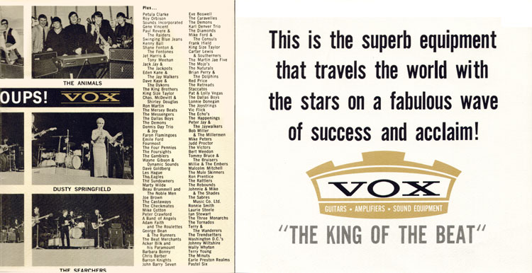 Vox, King of the Beat catalog, 1965