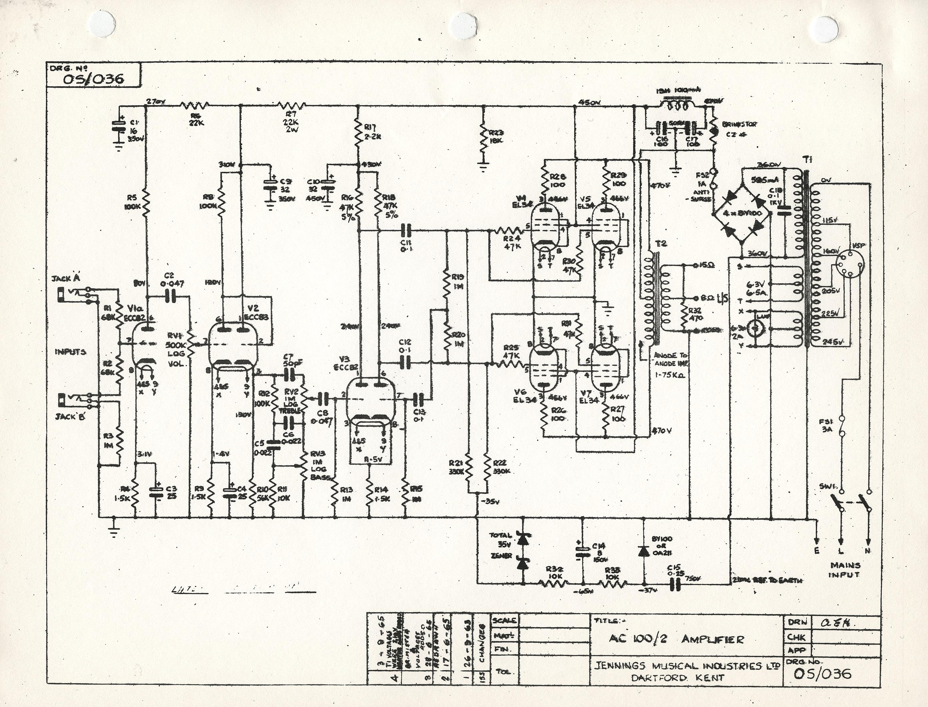Marvelous Vox Ac100 Schematics Wiring 101 Photwellnesstrialsorg