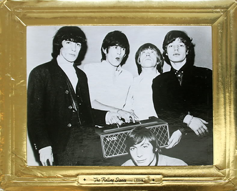 Stones promo picture with Vox AC80/100