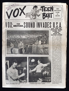 Vox Teen Beat magazine, volume I, issue 2, cover
